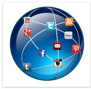 글로벌 소셜 미디어 서비스들 (출처 : business2community)