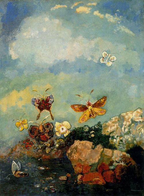 강신주의 감정수업 中 '사랑'편에 실렸던 오딜롱 르동(Odilon Redon)의 나비들